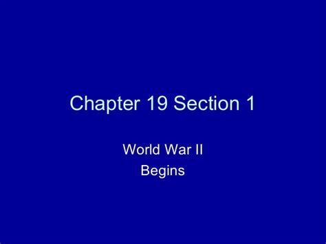 Chapter 19 Section 1 Powerpoint