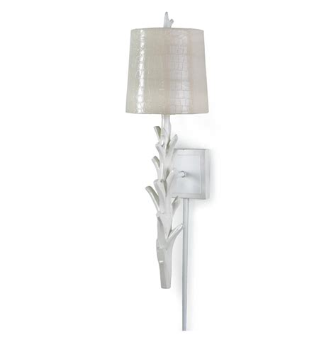 coral wall sconce biscayne coastal modern white croc coral sconce