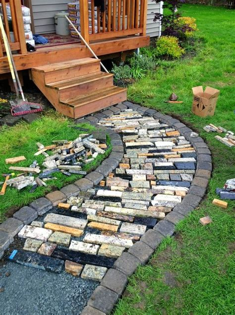 how to make a cheap garden path diy garden walkway projects inspiration for this spring