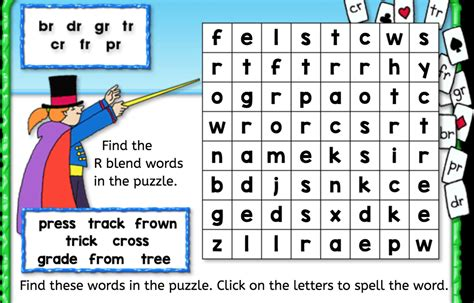 word search r blend interactive worksheets anywhere