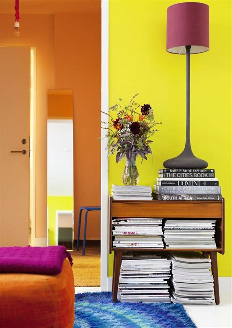 Retro Living Room Yellow by 1000 Ideas About Yellow Accent Walls On M In