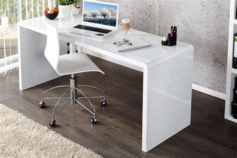 bureau blanc laque design royale deco