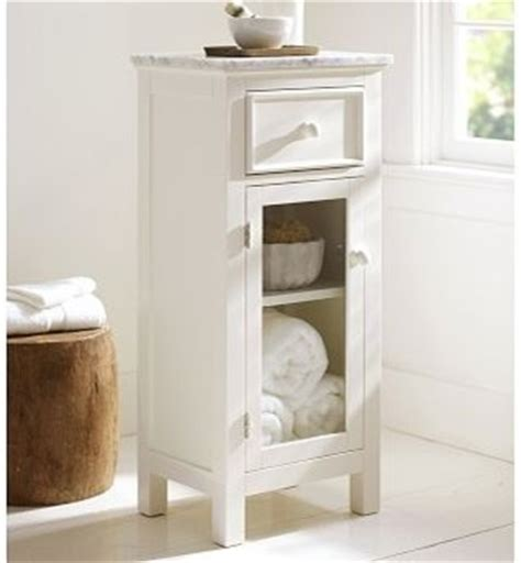 lucca marble top floor storage cabinet white