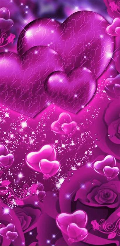 Backgrounds Heart Purple Phone Iphone Kathy Paper