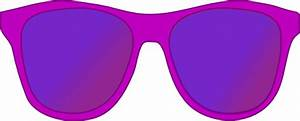 Dark Pink Sunglasses Front Clip Art at Clker.com - vector ...