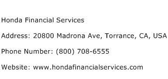 Financial Services Address by Honda Financial Services Address Contact Number Of Honda