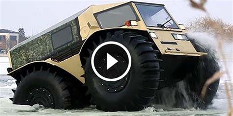 russian amphibious atv sherp   ultimate  road