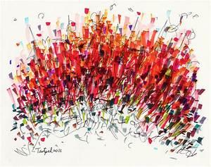 Non-Representational Abstract Drawing - Index Senior