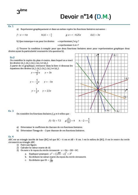 devoir maison maths 3eme contr 244 les de maths en troisi 232 me et devoirs surveill 233 s de maths en 3 232 me