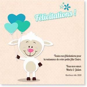 Quoi Offrir Pour Une Naissance : carte f licitation naissance ~ Melissatoandfro.com Idées de Décoration