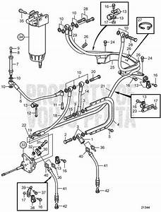 Volvo Penta Exploded View    Schematic Fuel System  A D12d