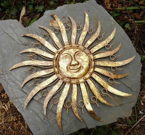 metall sonne für hauswand sonne metall braun gold wanddekoration wandbild gartendeko 68 cm ebay