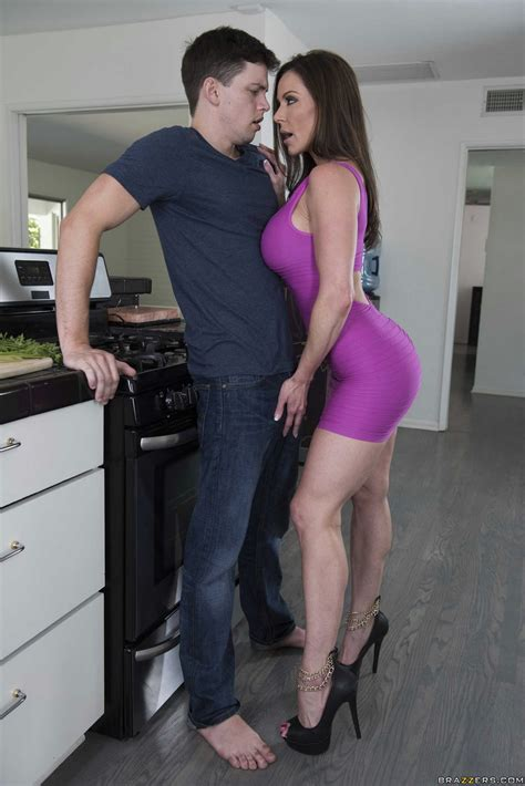 Hot Milf Kendra Lust In Purple Dress Seduces A Handsome