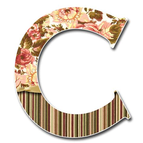 granny enchanteds blog tan floral stripe  scrapbook alphabet  jpg  png
