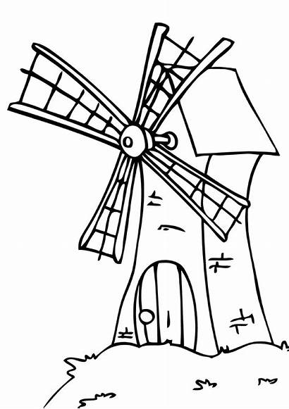 Mill Coloring Pages Mill3