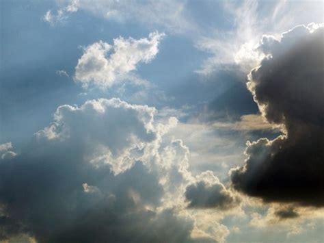 Sun shining through clouds free stock photos download