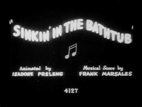 sinkin in the bathtub likely looney mostly merrie 2 sinkin in the bathtub 1930