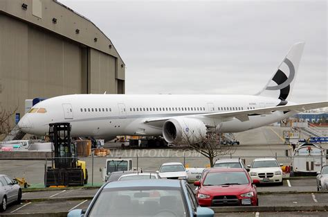 Boeing Modification Center by N28ms 787 8 Outside The Boeing Everett Modification