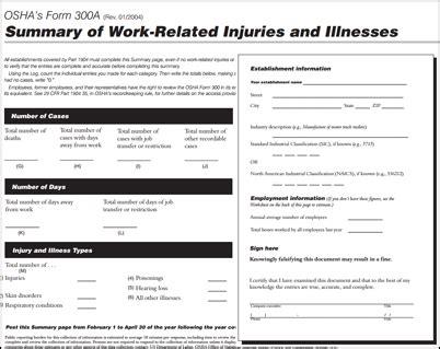employers osha 300a summary by february 1 2015