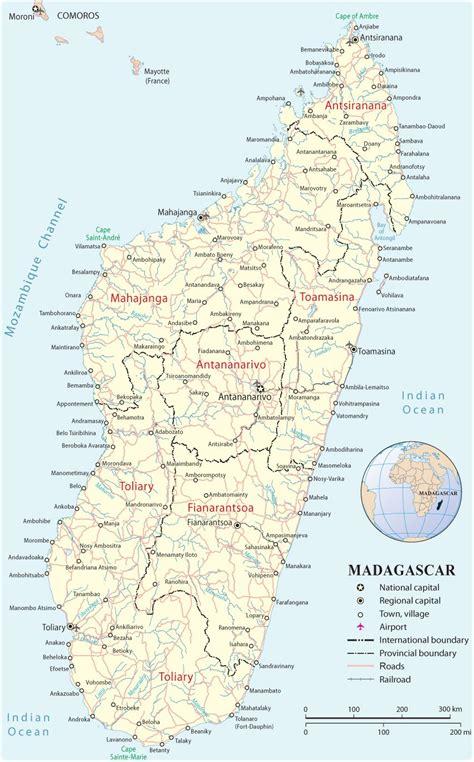 madagascar map  airport cities madagascar