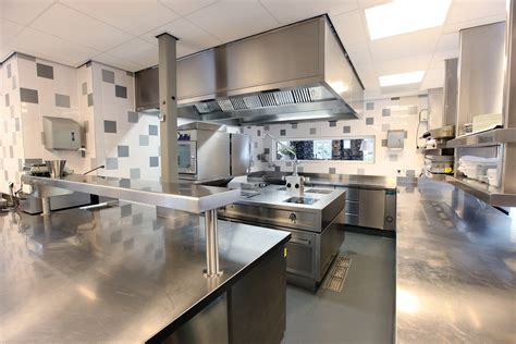 catering kitchen design ideas restaurant kitchen tile walls tile floor floor drain