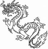 Dragon Coloring Pages Chinese Printable Dragons Colouring Outline Children Oriental Head Template sketch template