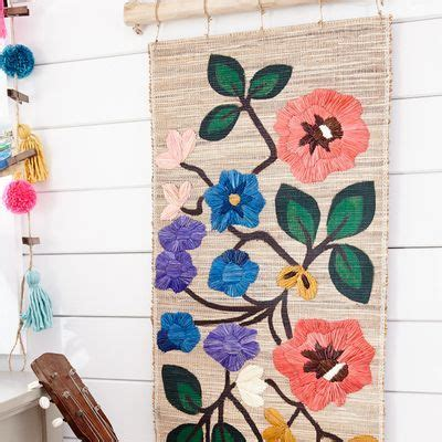 2926 meadow park dr near west brand rd. Embroidered Flowers Wall Decor   Pier 1 Imports   Flower wall decor, Cow wall decor, Eagle wall ...