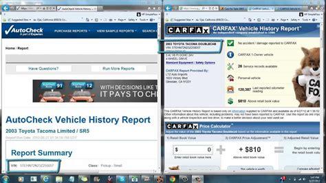 carfax    autocheck youtube