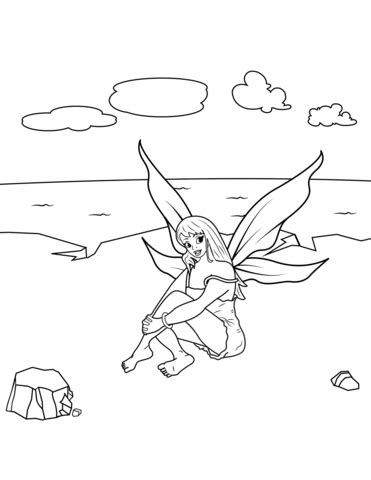 Sea Fairy coloring page Free Printable Coloring Pages