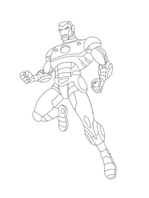 the avengers character iron man coloring page the