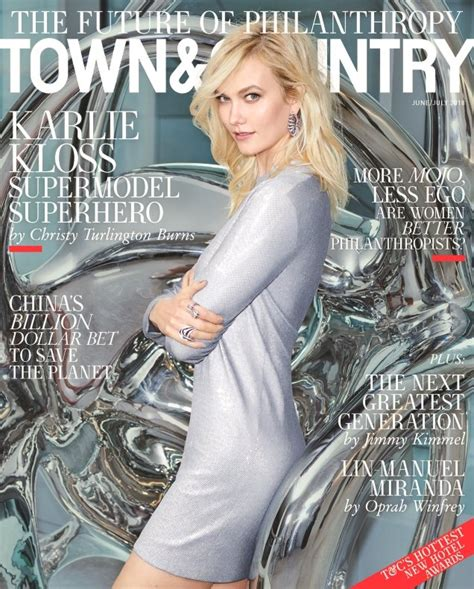 Karlie Kloss Town Country June July Thefashionspot