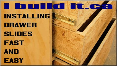 how to install kitchen cabinet drawer slides how to install drawer slides fast and easy 9440