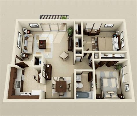 plan appartement 2 chambres 50 plans 3d d 39 appartement avec 2 chambres