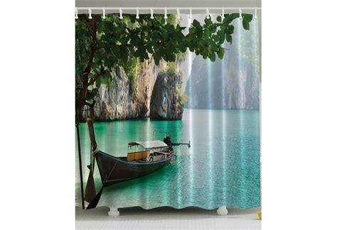 Beach Themed Shower Curtain Coastal Bath Curtains