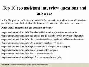 qa engineer interview questions top 10 ceo assistant interview questions and answers