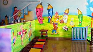 Play school wall painting schoo