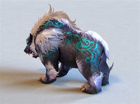 mythical bear creature  model ds max files