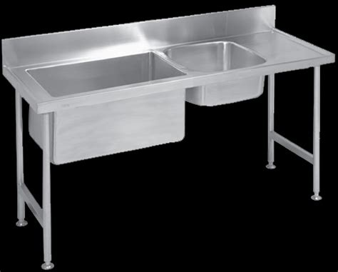 double bowl preparation sink sp stainless steel