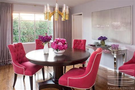 Hot Pink Dining Chairs Dining Room  Wingsberthouse Hot