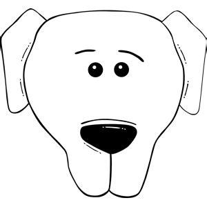 dog face clipart black  white clipart panda