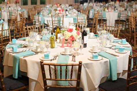 Ashley And Roberts Coral And Tiffany Blue Summer Wedding