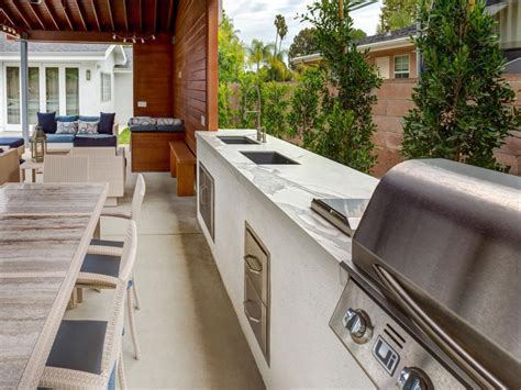 13 Outdoor Kitchen Countertop Options   HGTV