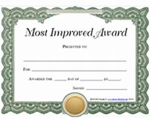 Improvement award certificates pictures to pin on for Most improved certificate template