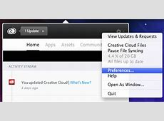 How do I stop the Adobe Creative Cloud app from auto