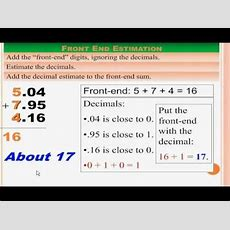 Interactive Math Lesson  Rounding And Estimating Decimals (powerpoint) Youtube