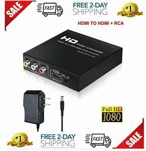 Aoken Hdmi To Rca And Hdmi Adapter Converter  Hdmi To