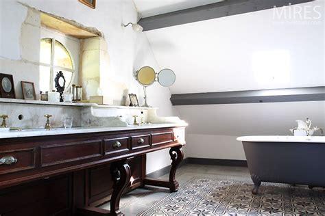 bureau vintage salle de bains rétro c0394 mires