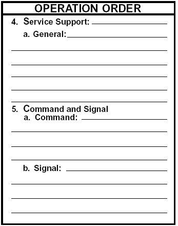 plan operation order opord armystudyguidecom