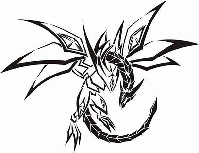 Dragon Tribal Coloring Tattoo Pages Printable Stencils