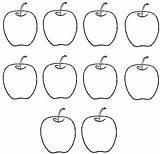 Coloring Apples Ten Apple Gambar Buah Apel Printables Counting Write Math Apfel Ausmalbilder Printable Preschool Learn Activities Flickriver Numbers Learning sketch template